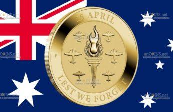 Австралия монета 1 доллар День АНЗАК