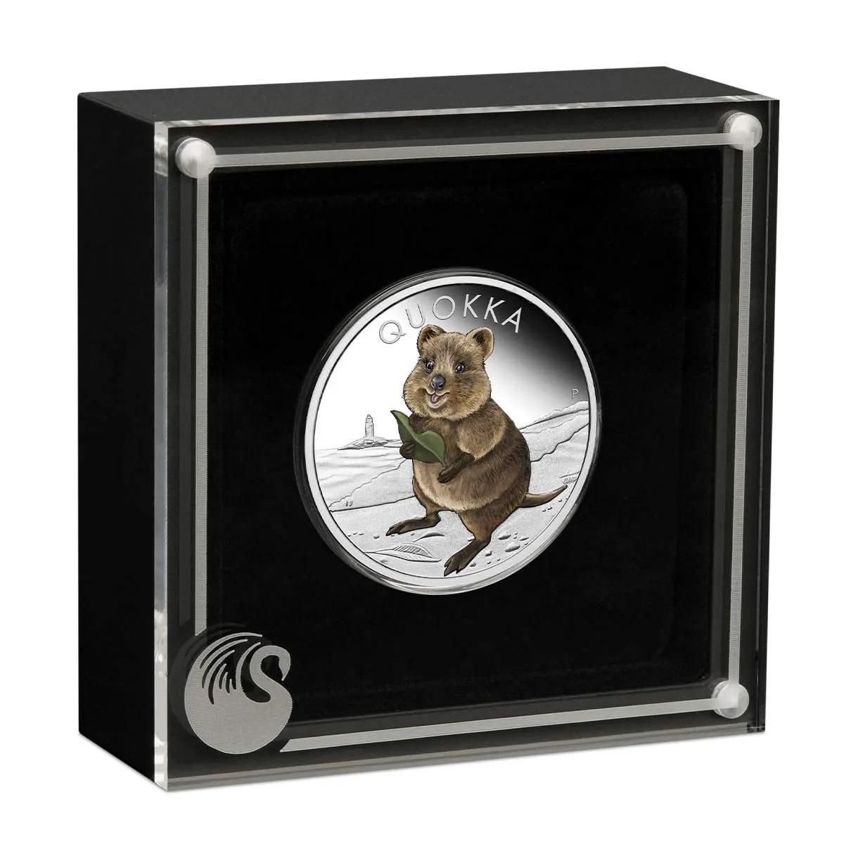 Австралия монета 1 доллар Квокка, подарочная упаковка