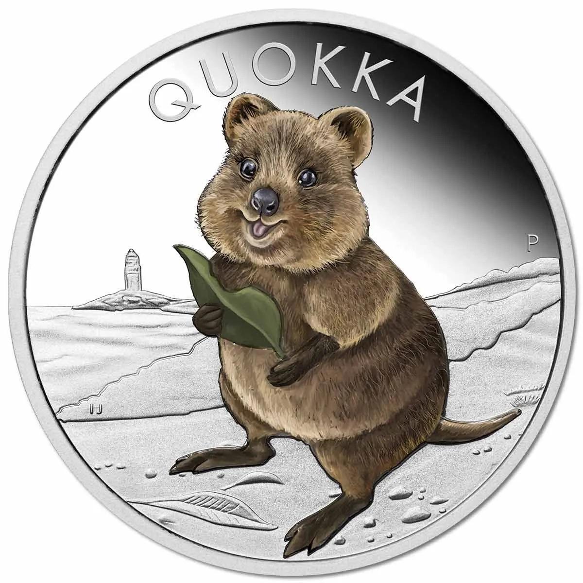 Австралия монета 1 доллар Квокка, реверс
