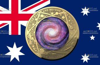 Австралия монета 100 долларов Млечный путь