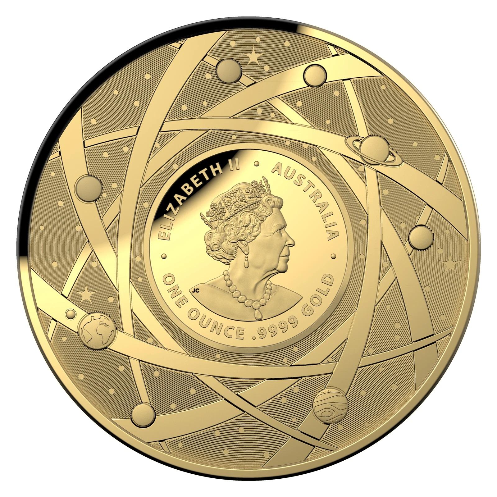 Австралия монета 100 долларов Млечный путь, аверс