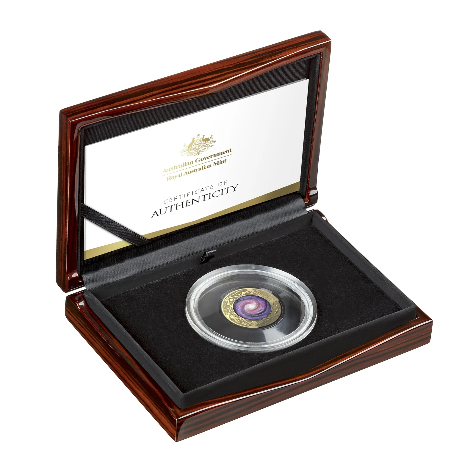 Австралия монета 100 долларов Млечный путь, подарочная упаковка