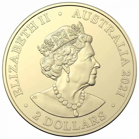 Австралия монета 2 доллара 2021 год, аверс