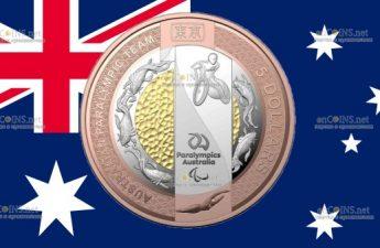 Австралия монета 5 долларов Паралимпийская сборная Австралии