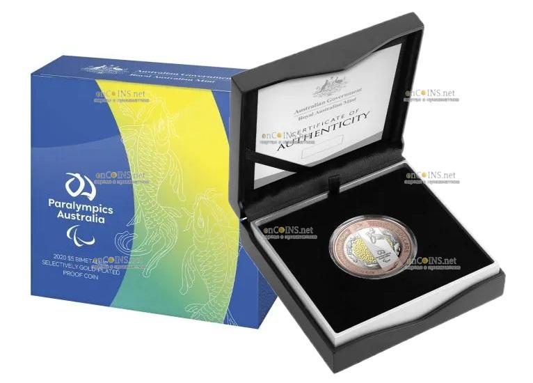Австралия монета 5 долларов Паралимпийская сборная Австралии, подарочная упаковкаАвстралия монета 5 долларов Паралимпийская сборная Австралии, подарочная упаковка