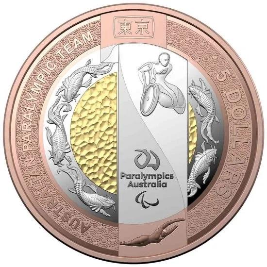 Австралия монета 5 долларов Паралимпийская сборная Австралии, реверс