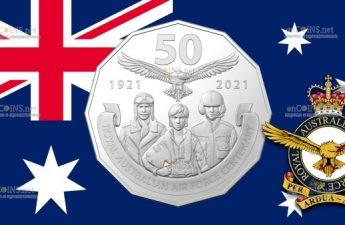 Австралия монета 50 центов - 100 лет Королевским военно-воздушным силам Австралии
