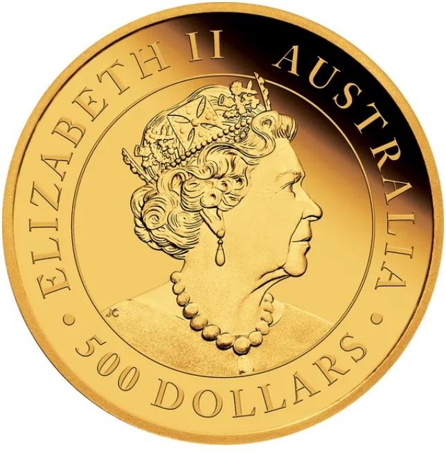 Австралия монета 500 долларов 2021 год, аверс