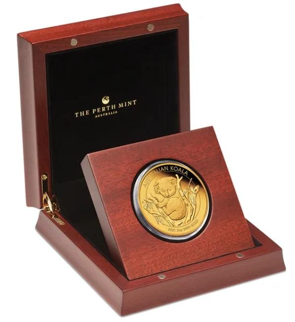 Австралия монета 500 долларов Коалла, подарочная упаковка