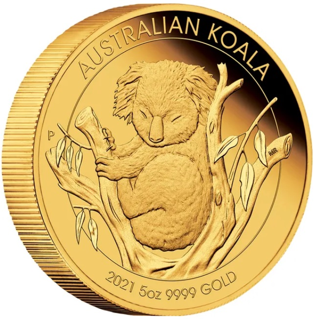 Австралия монета 500 долларов Коалла, реверс
