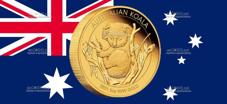 Австралия монета 500 долларов Коалла
