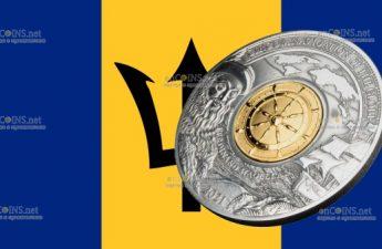 Барбадос монета 5 долларов Фердинанд Магеллан