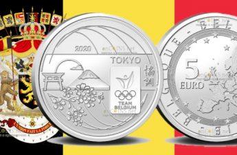 Бельгия монета 5 евро Сборная Бельгии