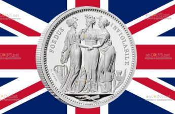 Британия монету 5 фунтов Три Грации