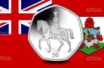 Британские территории в Индийском океане монета 50 пенсов 95 лет со дня рождения королевы