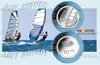 Германия монета 10 евро В Воздухе