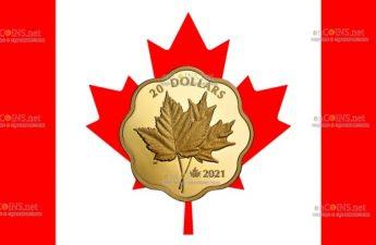 Канада монета 20 долларов Культовые Кленовые листья
