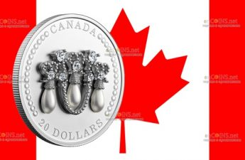 Канада монета 20 долларов Тиара Елизаветы II