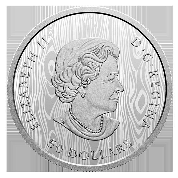 Канада монета 50 долларов Пума, аверс