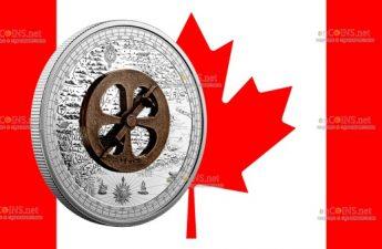 Канада монета 50 долларов Шамплен и Астролябия