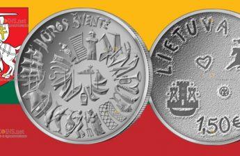 Литва монета 1,5 евро Праздник моря