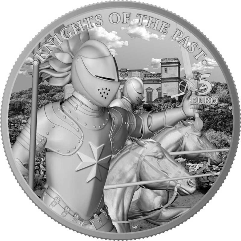 Мальта монета 5 евро Рыцари прошлого, реверс