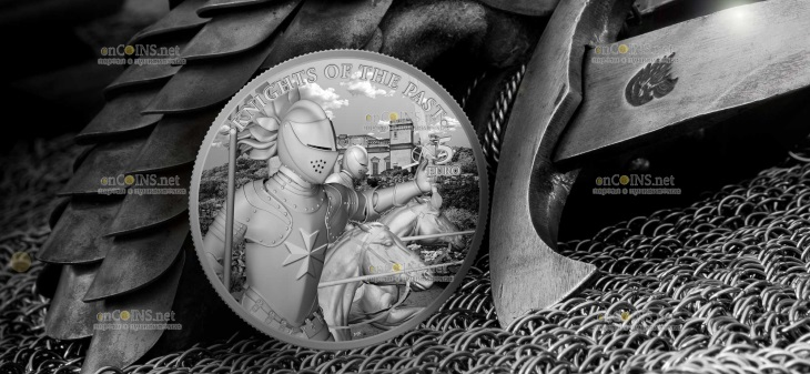 Мальта монета 5 евро Рыцари прошлого