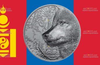 Монголия монета 1 000 тугриков Мистический Волк