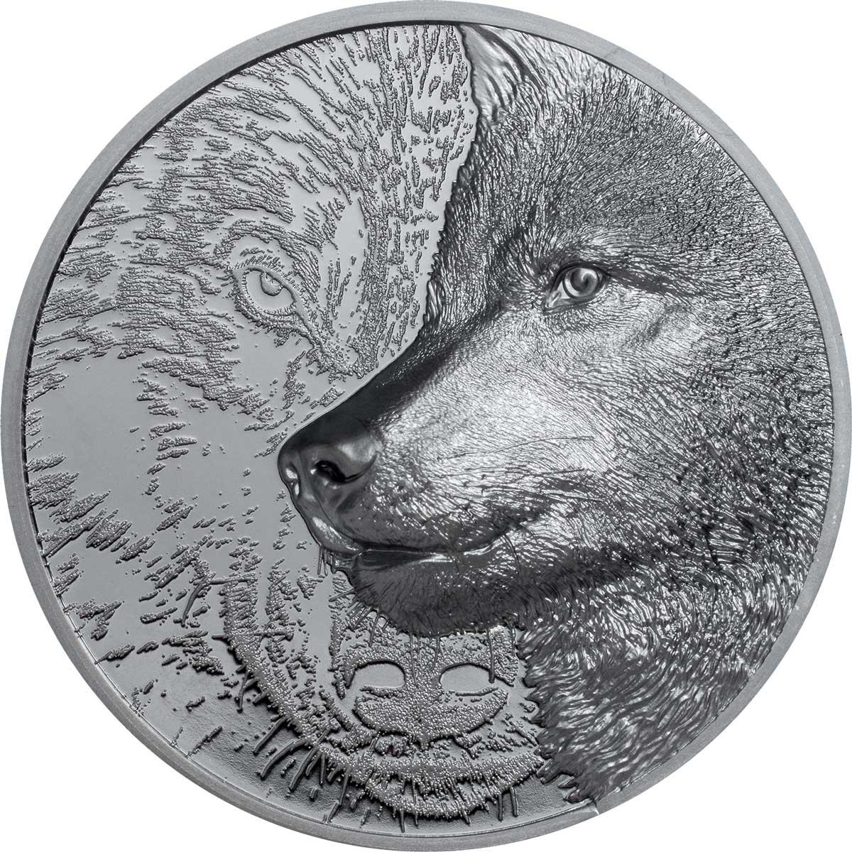 Монголия монета 1 000 тугриков Мистический Волк, реверс