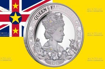 Ниуэ монета 1 доллар 95-летие со дня рождения королевы Елизаветы II