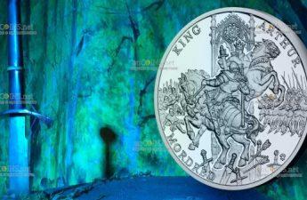 Ниуэ монета 1 доллар Король Артур и Мордред