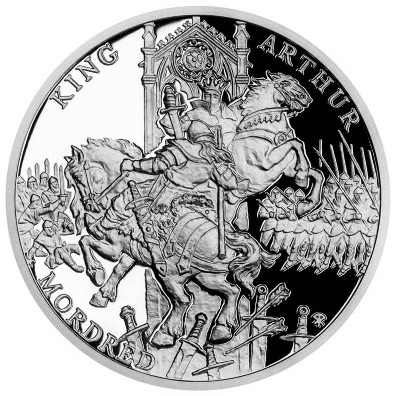 Ниуэ монета 1 доллар Король Артур и Мордред, реверс