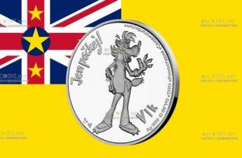 Ниуэ монета 1 доллар Волк