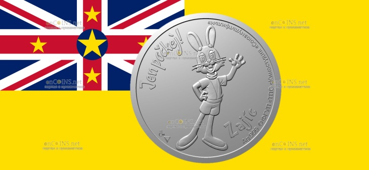 Ниуэ монета 1 доллар Заяц