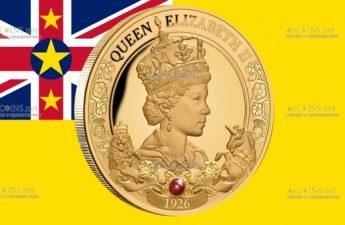 Ниуэ монета 100 долларов 95-летие со дня рождения королевы Елизаветы II