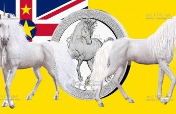 Ниуэ монета 2 доллара Единорог