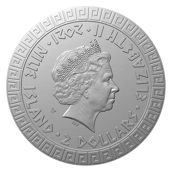 Ниуэ монета 2 доллара серии Мифический существа, аверс