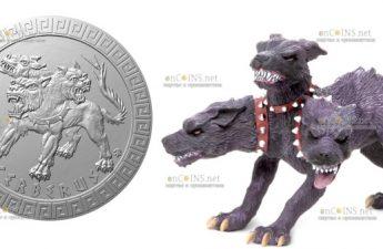 Ниуэ монета 2 доллара Цербер