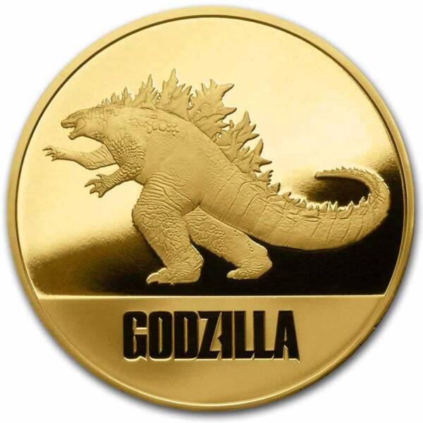 Ниуэ монета 250 долларов Годзилла, реверс