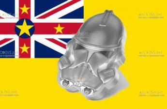 Ниуэ монета 5 долларов Шлем элитных ударных войск Империи