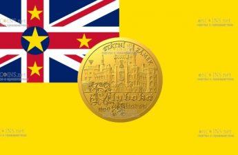 Ниуэ монета 5 долларов Замок Глубока