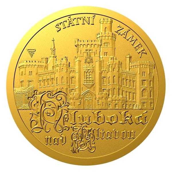 Ниуэ монета 5 долларов Замок Глубока, реверс