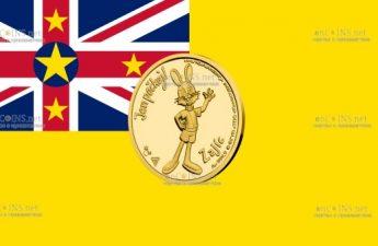 Ниуэ монета 5 долларов Заяц
