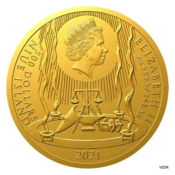Ниуэ монета 500 долларов Принцесса Либуше, аверс