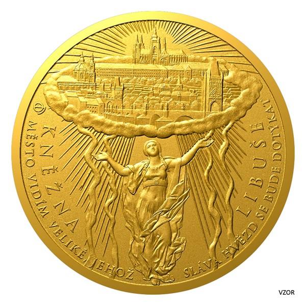 Ниуэ монета 500 долларов Принцесса Либуше,реверс