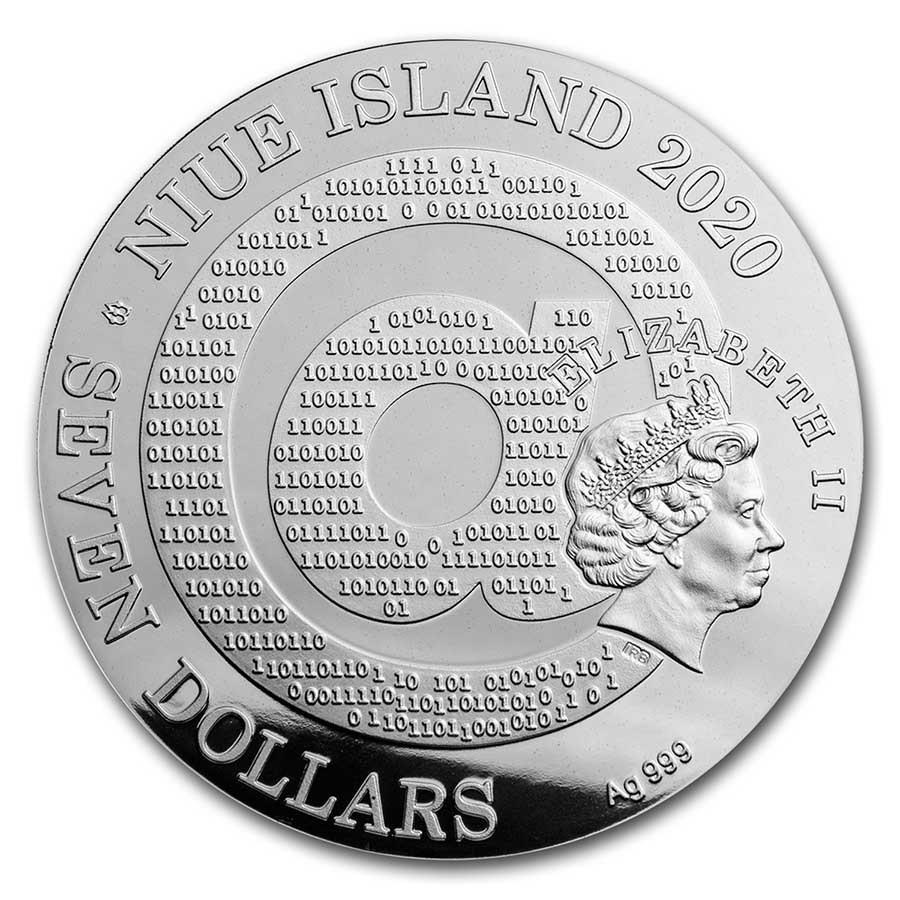 Ниуэ монета 7 долларов Густав Климт, аверс