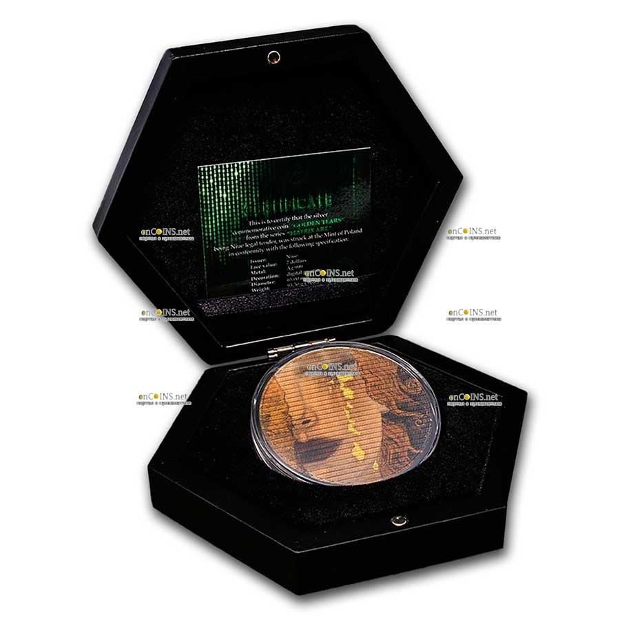 Ниуэ монета 7 долларов Густав Климт, подарочная упаковка