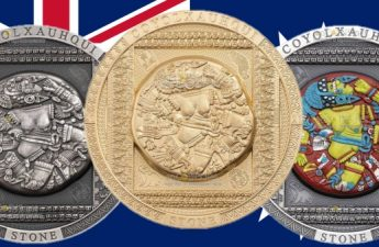Острова Кука монета 20 долларов Койолксауки