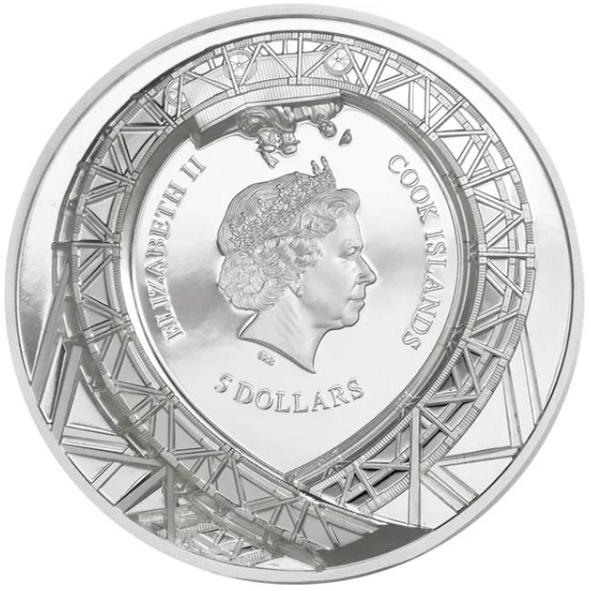 Острова Кука монета 5 долларов Петля, аверс
