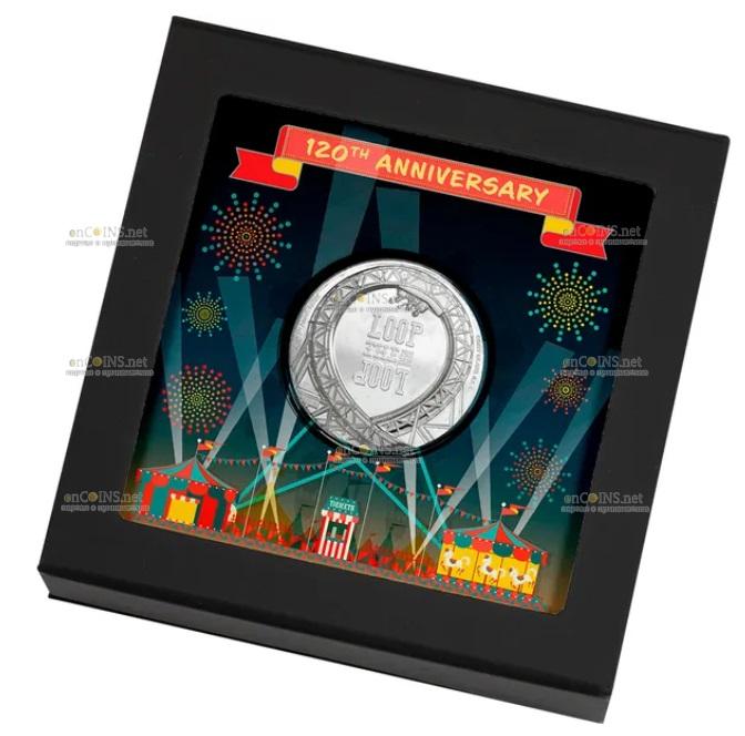Острова Кука монета 5 долларов Петля, подарочная упаковка